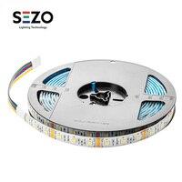 DC12V 5050 RGBW+WW Led Strip Lights CCT RGBWW 5M 60leds/m Led Strips Tape 5 In 1 RGBWW Led Strip RGBW Ribbon Lamps IP30/65/67