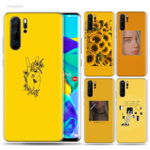 Yellow Aesthetic Art Case for Huawei P20 P30 P Smart Z Plus 2019 P10 P9 P8 Mate 10 20 lite Pro Silicone Fashion Phone Bags Capa(China)