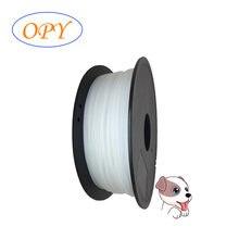 Pa Nylon Poliamida 3D Impressora De Filamento 1.75 milímetros 1-f-75 1kg Branco Fio de Diy Para O Transporte a natureza da Cor