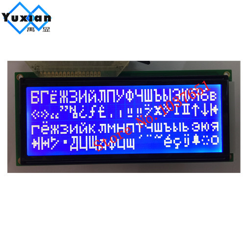 lcd 2004 cyrilice - 2004 LCD 20x4  LCD display with Russian cyrillic Font  big character size  BLUE screen 5V 146*62.5mm