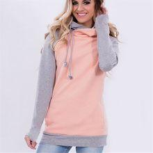 Autumn New Hoodies Women Sweatshirts Elegant Hooded Long Sleeve Pullover Top Jumper harajuku Cute Streetwear Patchwork Tops XXXL