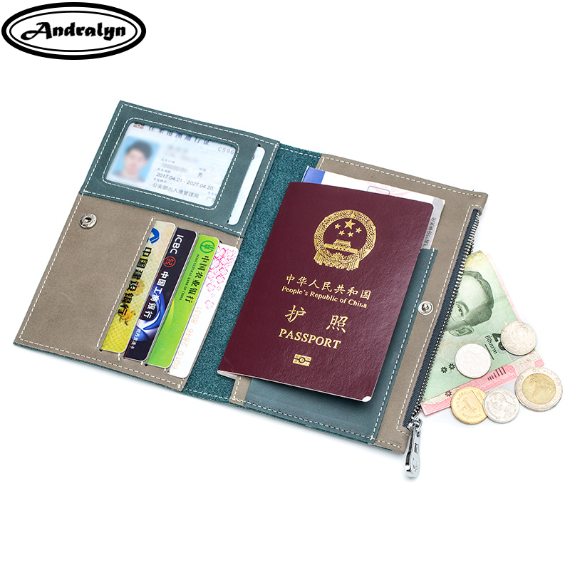 купить Andralyn Driver License Bag Split Leather on Cover for Car Driving Document Card Holder Passport Wallet Bag Certificate Case по цене 814.61 рублей