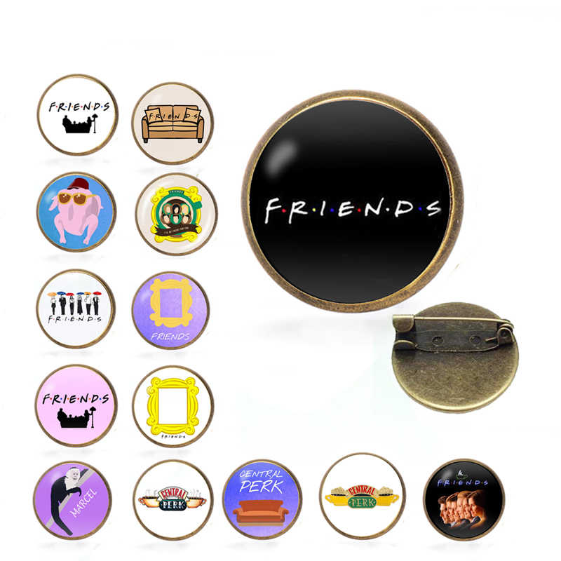 TV Series Friends Sofa door frame monkey Pin Pins Brooches Badges For Clothing Pin Badges Gifts For Women