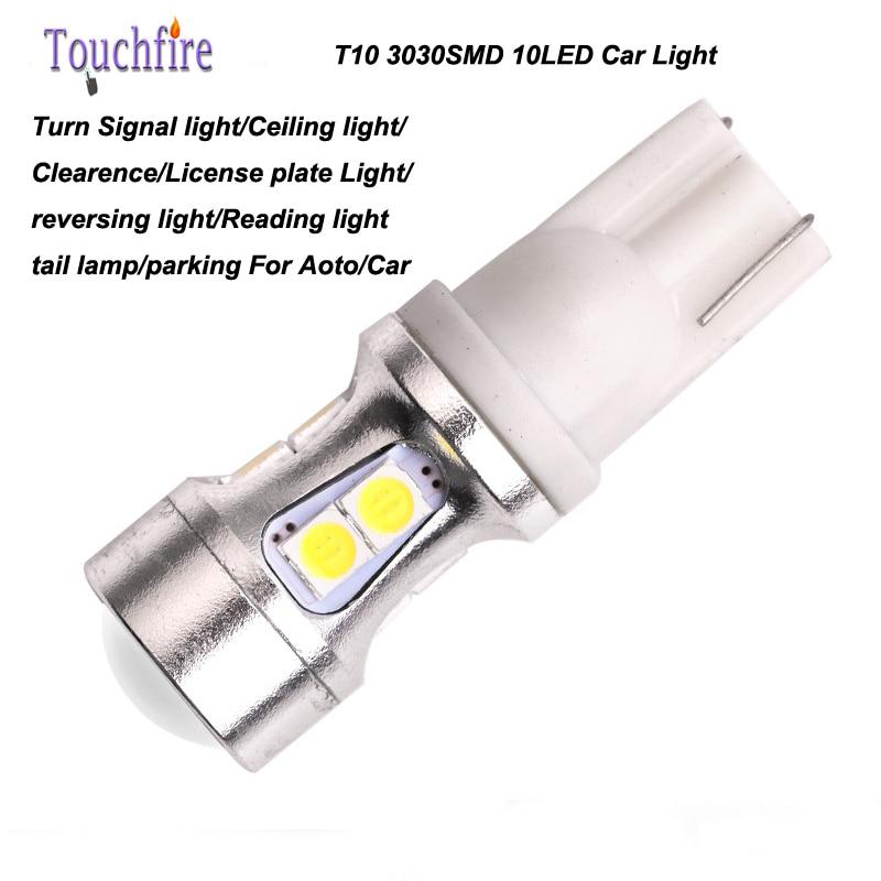 10pcs/lot t10 3030smd 10 w5w led bulds for cars 12v Interior Signal brake Styling for bmw e60 e46 e90/peugeot 206 307 308/skoda