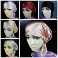 100% Silk Sleeping Hats Hair Care Wrap Night Cap Soft Bonnet Women's Hat DAJ9099