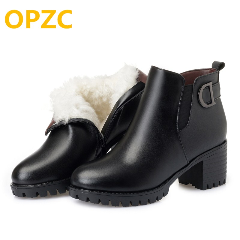 OPZC 2018 new platform heels genuine leather boots ankle,big size 41 42 43 women snow shoes,trend women shoes winte martin boots aiyuqi 2018 new 100% genuine leather women shoes big size 41 42 43 low heel pumps trend ladies shoes women dress shoes