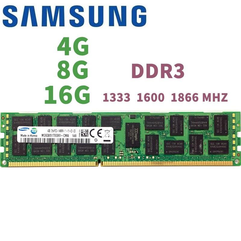 Samsung 4 GB 8 GB 16 GB 4G 8g 16G DDR3 PC3 1333 1600 MHz 1866 MHz 10600 de 12800-14900 R 1333 MHz PC servidor RAM Memoria para