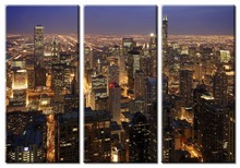3 Pieces Picture Painting Wall Art Room Decor Print Poster Bustling night Wall Pictures for sitting Room Canvas Painting цена