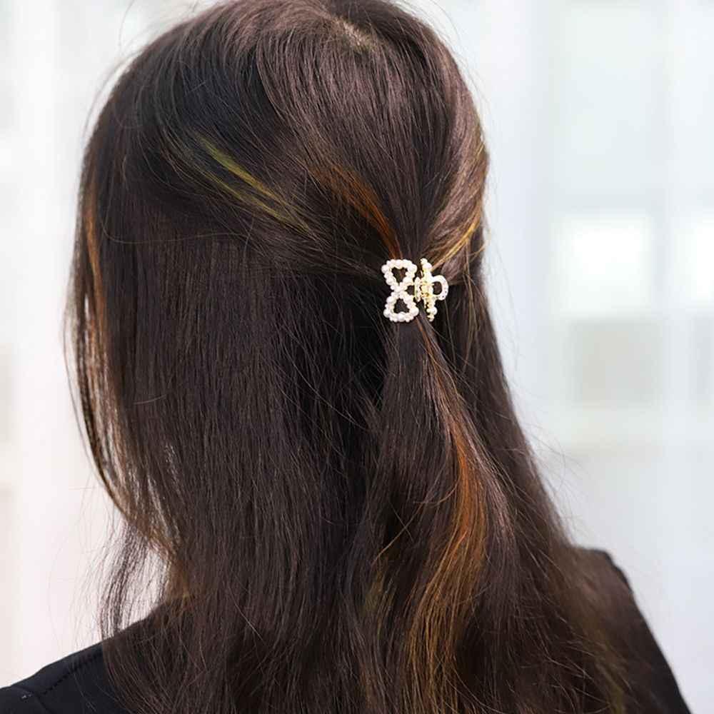 1 Pc יוקרה ריינסטון פניני מתכת גיאומטרי סיכות שיער הסרטנים טפרי פרפר שיער קליפים בארה 'ב סיכת עבור נשים בנות