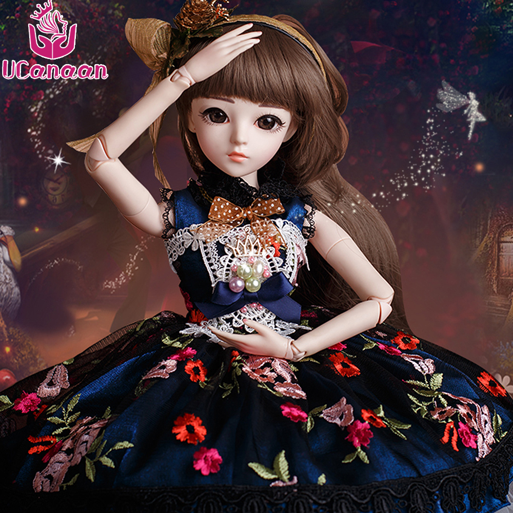 UCanaan 1/3 BJD Girl Doll High Quality Handmade Dress With Outfit Shoes Wig Makeup Dolls Reborn Girls Toys Collection SD Doll ucanaan bjd doll sd dolls wedding dress wig