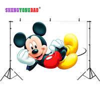 SHENGYONGBAO Kunst Tuch Kulissen für Fotografie Mickey Maus Foto Studio Hintergrund NML-1071
