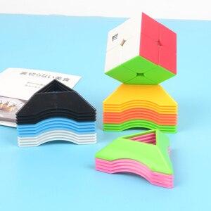 Image 2 - 10 قطعة اللون 2x2 3x3 4x4 مكعب حامل أعلى جودة سرعة ماجيك سرعة مكعب مكعب بلاستيكي قاعدة حامل التعليمية لعب للتعلم