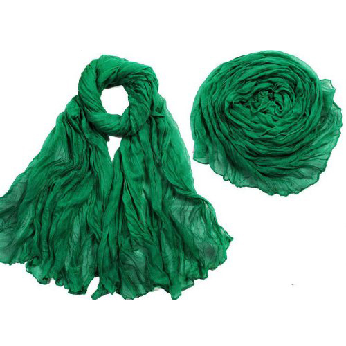 Hot Hot Solid Color Shawl   Scarf     Wrap   for Women (Green)