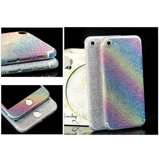 360 Degree Full Body Decal Skin Wrap Phone Case Women Girls Bling Glitter  Phone Protective Sticker b27fe821bf8e