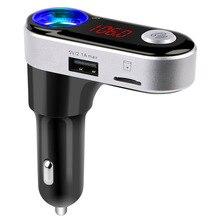 Kit de Coche Bluetooth BC09B Aluminio Forma Detector de Voltaje de Corriente con Transmisor FM Manos Libres BT Dual USB Cargador para iOS y Andr