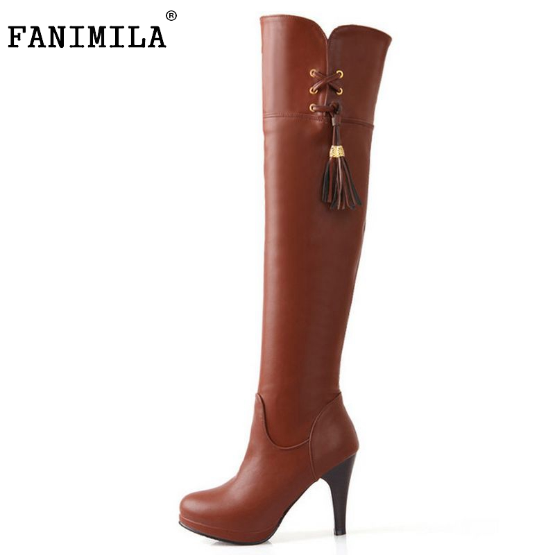 Free shipping over knee high heel boots women snow fashion winter warm footwear shoes boot P14731 EUR size 32-48 free shipping candy color women garden shoes breathable women beach shoes hsa21