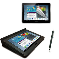 3in1 Luxury Magnetic Folio Stand Leather Case Cover Screen Film Stylus For Samsung Galaxy Tab 2