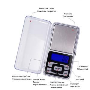 Image 4 - Przez DHL/Fedex 50 sztuk/partia 1000g x 0.1g Mini 1 kg elektroniczny 5 klawiszy kieszonkowy skala LCD wyświetlacz cyfrowy biżuteria waga waga 30% off