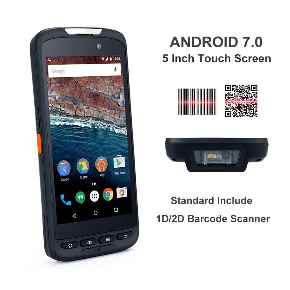 цены 4G LTE Android7.0 rugged nfc rfid reader 2d barcode scanner all in one handheld smartphone rugged android pda barcode
