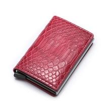 Unisex RFID ID Card Holder PU Leather High Quality Wallet Aluminum Box Slim Mini Business Case