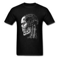 2017 New Terminator T Shirt Rock Men T Shirt Cotton Big Size Short Sleeve Custom Robot