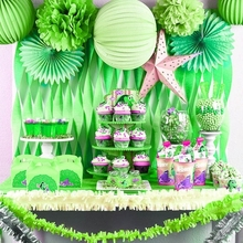 Jungle Party Decoration 20pc Set Hanging Paper Lantern Star Crepe Streamer Garland For Tropical