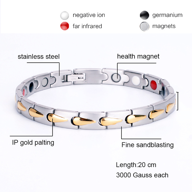 Oktrendy Accessories Women Stainless Steel Magnetic Bracelet Adjustable Handmade Chain Bracelet Femme 2019