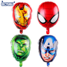 QGQYGAVJ The Avengers foil balloons super hero baby toys hulk Captain America superman batman Iron man spider-man helium balloon