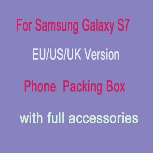 10pcs/lot US,EU Version Retail Package Paper Packing Box for Samsung Galaxy S7 with full Accessories