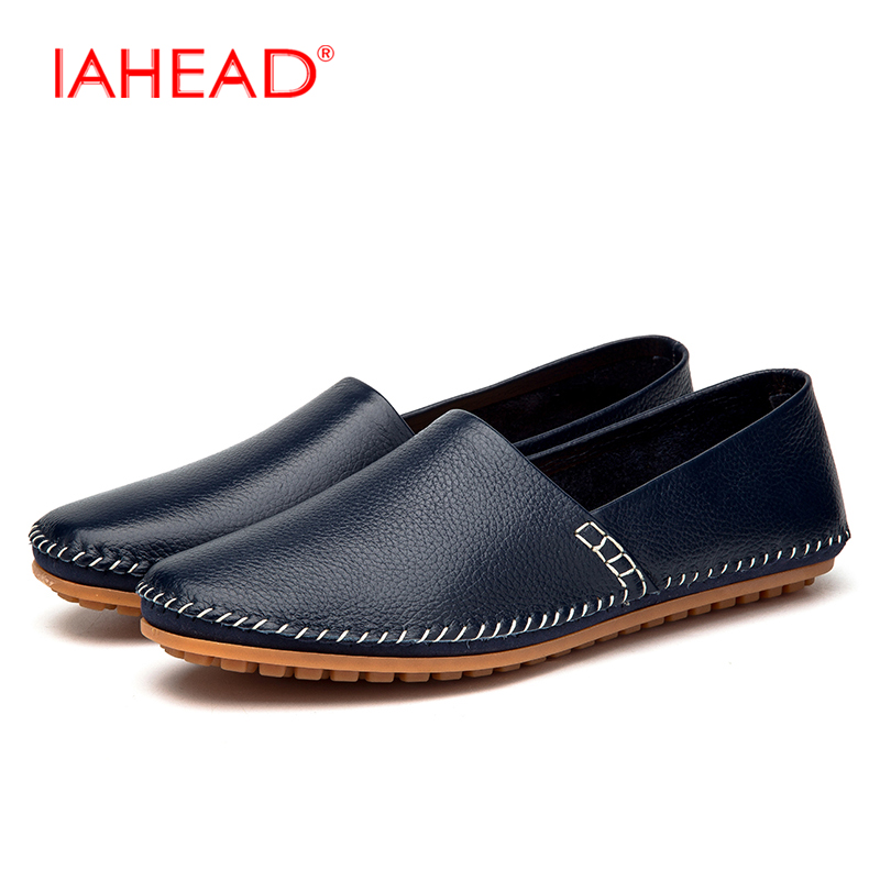Men Genuine Leather Casual Shoes Soft Breathable Plus Size 39-47 Men Loafers Male Flats Driving Shoes 2017 Moccasins Shoes MQ534  men luxury brand new genuine leather shoes fashion big size 39 47 male breathable soft driving loafer flats z768 tenis masculino