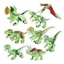 hot deal buy 8-20pcs jurassic world animal dinosaur building blocks indominus rex tyrannosaurus rex compatible brand toys