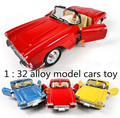 Classic toys! 1 : 36 Alloy Hood retro classic cars pull back open door  model cars toy,Children's favorite, free shipping