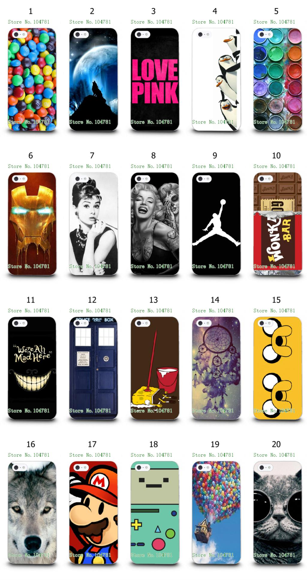 Michael Jordan Wolf Marilyn Monroe Cute Cartoon White Hard Back Case For Iphone 4 4S Free Shipping