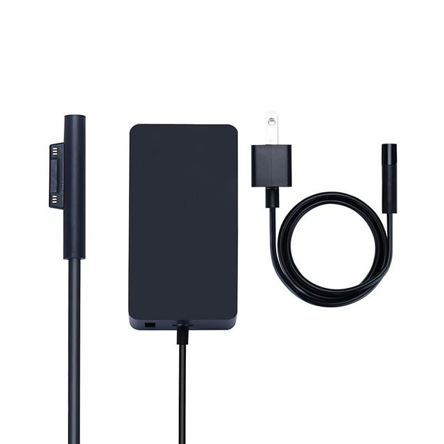 Nouveau chargeur Portable 15V 4A 65W adaptateur secteur pour Microsoft Surface Pro 4 tablette pour Surface Book alimentation avec Port USB 5V