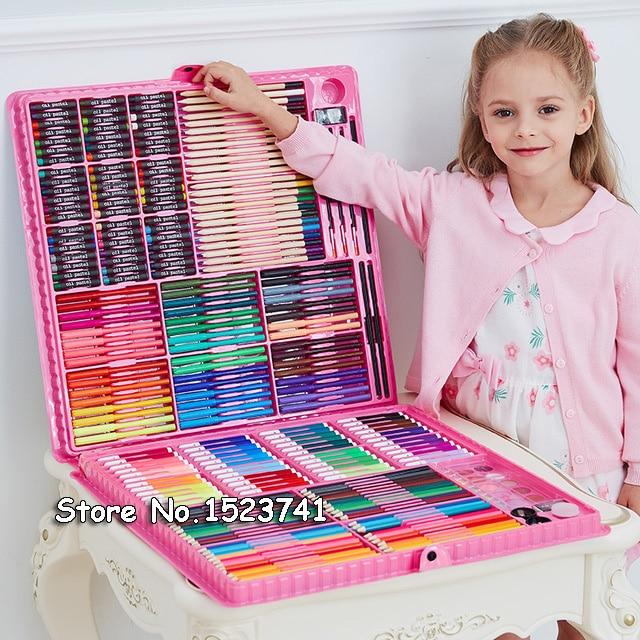 168 288pcs Art Set Painting Watercolor Drawing Tools Art Marker Brush Pen Supplies Kids For Gift