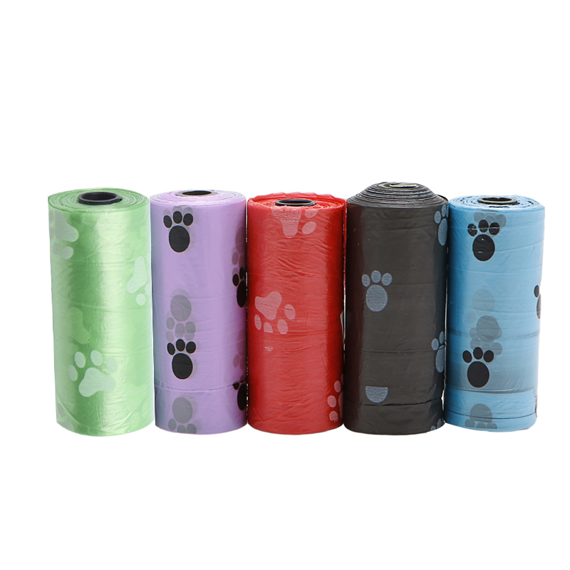 New 1/5/10/20roll Pet Dog Waste Poop Bag Poo Printing Degradable Clean-up  Bags