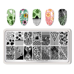 Image 2 - BORN PRETTY Summer Fruit Nail Art Stamping Template tropical Pattern Rectangle Image Plate Stamping Polish Needed