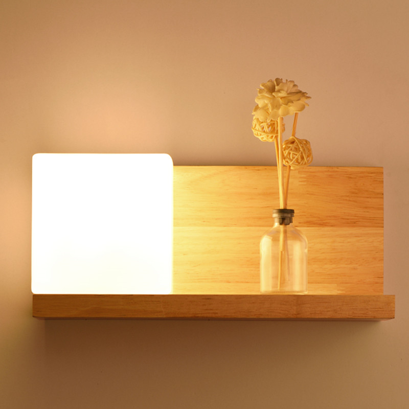 Nordic Bedroom Bedside Wood Wall Lamp Modern Chinese Style Aisle Living Room Originality Wooden LED Decor Light Free Shipping bedside wooden wall lamp wood glass aisle wall lights lighting for living room modern wall sconce lights aplique de la pared