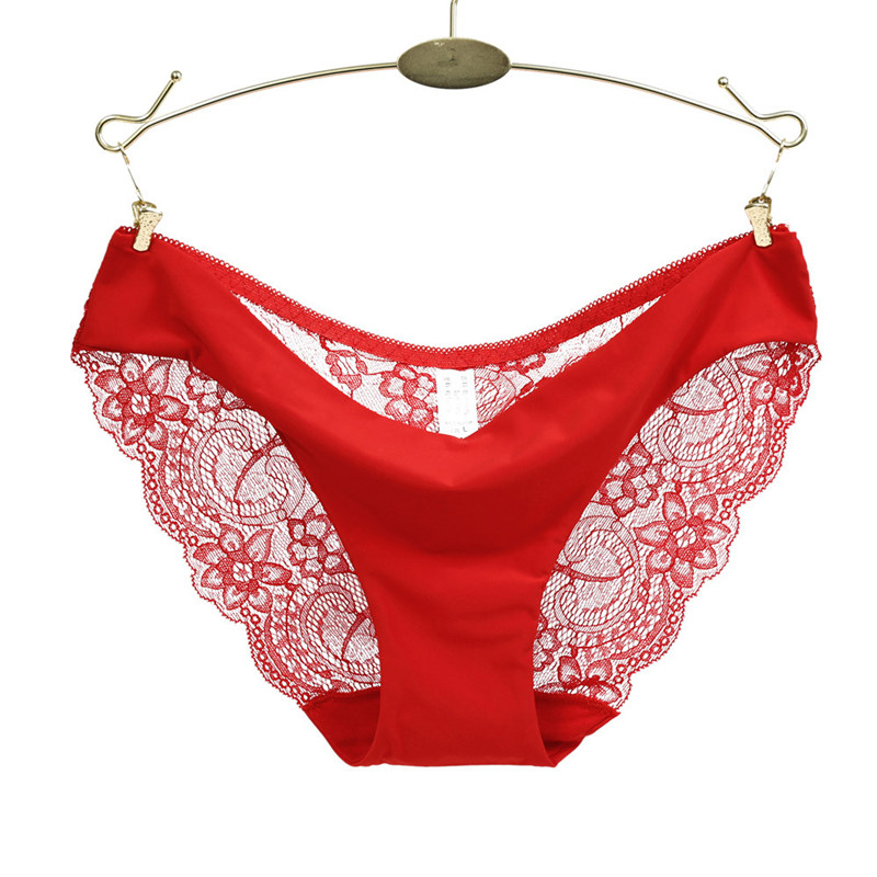 S/M/L/XL Size Breathable Customized Comfortable Women Lace   Panties   Seamless Cotton   Panty   Hollow Briefs Floral Pattern Underwear