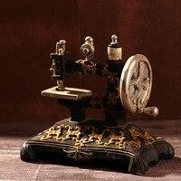 Shabby Chic Zakka Inrichting Vintage Interieur Naaimachine Decoratie Accessoires Thuis Resin Model 16*10*15 cm