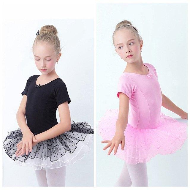 89fa1a316f87 Hot Sale Girls Kids Black Swan Ballet Leotard Tulle Skirt Cute ...