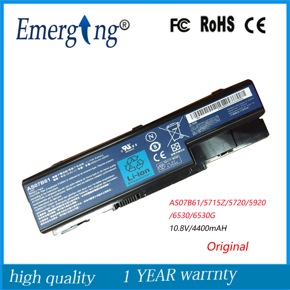 11.1v 48WH New Original Laptop Battery for Acer 5920 5720 5315 5942 7220 AS07B31 AS07B41 AS07B51 AS07B61