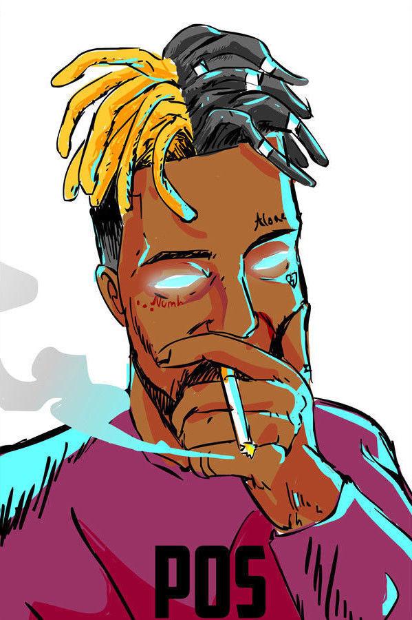 XXXTentacion American Rapper Hip Hop Music Singer Star B/&W Poster 24x36 E-1823