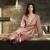 XIFENNI Mulheres Pijama de Cetim de Seda Bordado Luxuoso Conjuntos de Pijama Sleepwear Café Ouro Alta Qualidade Desgaste Casa Ocasional 3314
