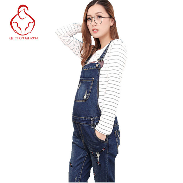 53650a2186b21 US $19.97 47% OFF|Aliexpress.com : Buy Fashion cowboy trousers pants can be  adjusted large yards grinding mothers jeans cowboy dresses pregnant ...