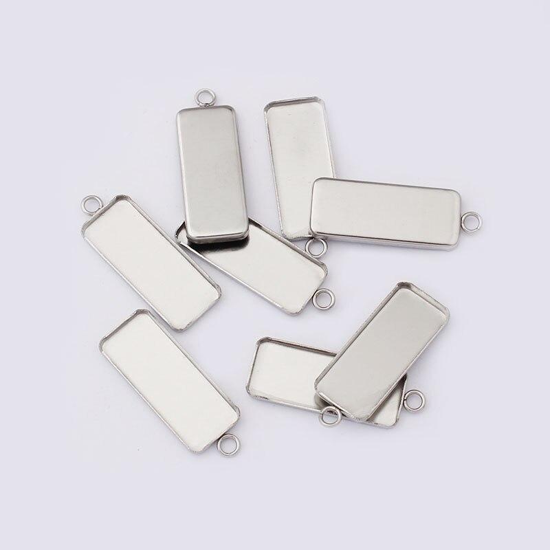 tiny ear bezels 316 stainless steel earring settings earring supplies empty earring trays 20 PCS 8mm earring bezels cabochon blanks