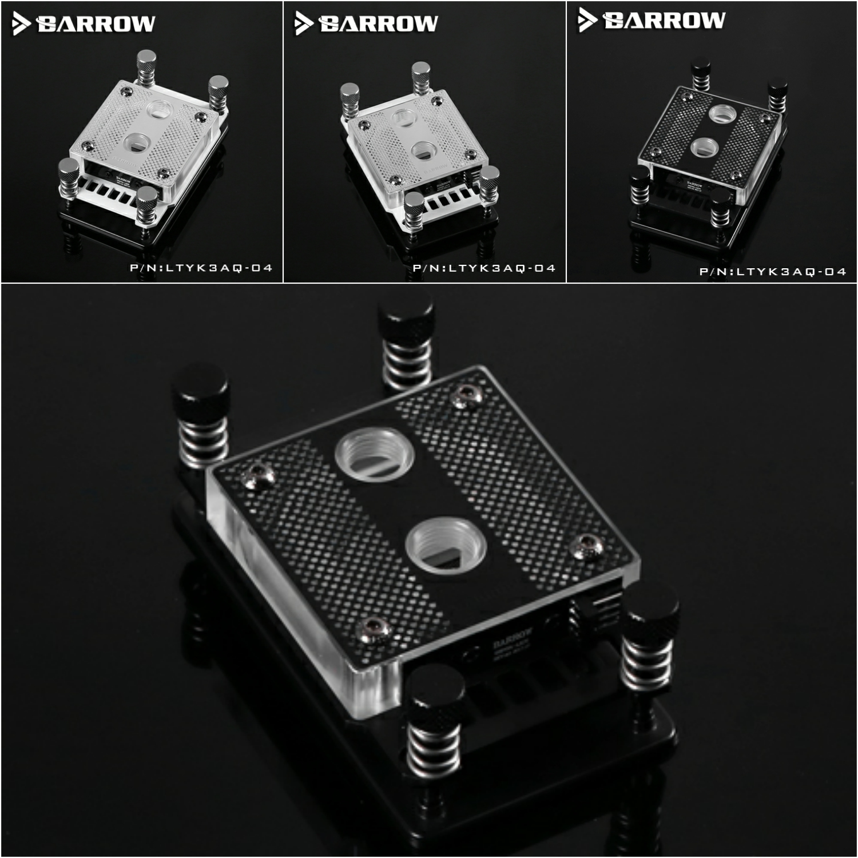Barrow LTYK3AQ-04 RGB CPU Water Cooling Block for AMD AM2 AM3 AM4 2200rpm cpu quiet fan cooler cooling heatsink for intel lga775 1155 amd am2 3 l059 new hot