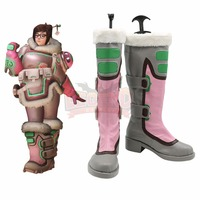 GAME hero Mei pink Cosplay shoes Custom made Mei costume shoes all size