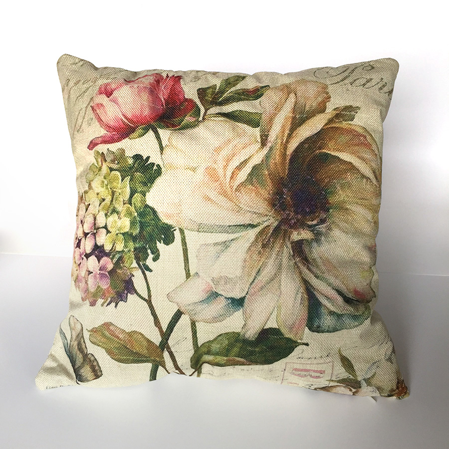 Flower Cushion Cover Pillow Cover Home Decor Housse Coussin For Sofa Funda Cojin 45x45