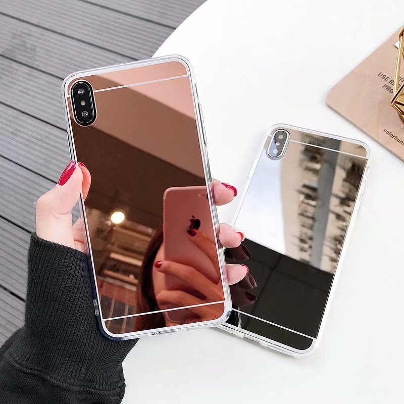 Dutiful Fashion Flash Rose Gold Luxury Glitter Mirror Case For Iphone X 7 6 6s Plus 5s 5 8 X Xs Max Soft Clear Tpu Cover For Iphone 6 Xr